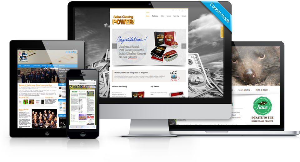 mobile ready, secure and responsive web site design